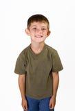 大男孩一点微笑 免版税库存照片