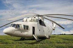 大白色货运直升机 免版税图库摄影