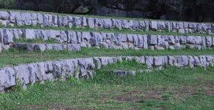 大石头台阶  免版税库存照片