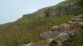 大石头和低篱芭 影视素材