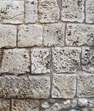 大石工 背景一个老堡垒的墙壁 库存图片