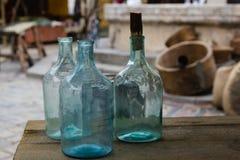 大空的玻璃瓶 图库摄影