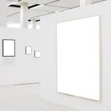 大空的陈列框架墙壁白色 图库摄影