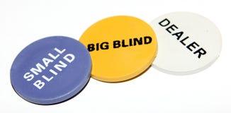 大窗帘、小盲人和经销商 库存图片