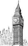 大笨钟・伦敦草图  库存照片