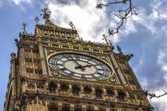 大笨钟伦敦,英国 免版税图库摄影