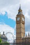 大笨钟和伦敦眼睛 图库摄影