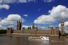 大笨钟和议会,伦敦之家  免版税图库摄影