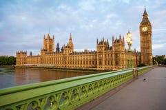 大笨钟在伦敦 库存照片