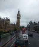 大笨钟在雨中 库存照片
