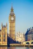 大笨钟塔在伦敦 免版税库存照片