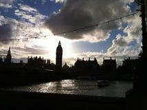大笨钟塔在伦敦 库存图片