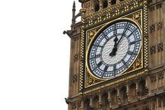 大笨钟细节,伦敦,英国 免版税库存图片