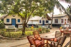 大米利的议院在Krokobite,阿克拉,加纳 免版税库存照片