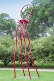 大红色椅子,芝加哥千禧公园 免版税库存图片