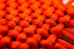 大红色被编织的绳子,纹理,春节,墙纸,背景 免版税库存图片