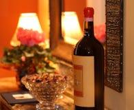 大红葡萄酒 免版税库存图片