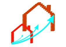 大经济房子 向量例证