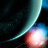 大绿色行星 免版税库存照片
