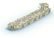 大美元船 向量例证