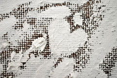 大美好的白色心脏绘与油漆 免版税图库摄影