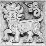大美妙的狮子,浅浮雕 免版税库存照片