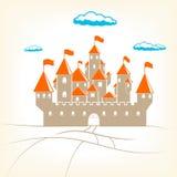 大老城堡传染媒介例证 库存图片