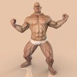 大肌肉人 免版税库存照片