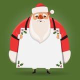 大肥胖圣诞老人 免版税库存照片