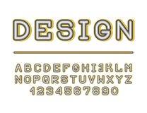 大胆的减速火箭的创造性的字体 皇族释放例证