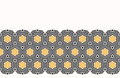 大胆的手拉的星圈子缝制 传染媒介样式无缝的背景 对称几何凯尔特结例证 时髦减速火箭 库存例证
