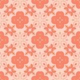 大胆的橙色花设计无缝的样式背景例证 库存照片