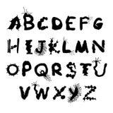 大胆的生物字体 库存例证