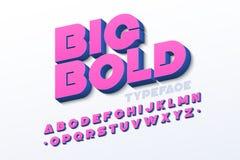 大胆的3d字体 免版税库存照片