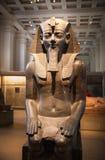 大英博物馆埃及雕塑大厅,法老王Rameses 免版税库存图片