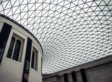 大英博物馆天花板 免版税库存照片