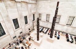 大英博物馆巨大法院咖啡馆地区 库存照片