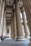 大英博物馆柱子 库存图片