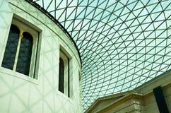 大英博物馆-在屋顶的几何样式 库存图片