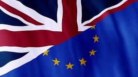 大英国和欧洲, Brexit旗子  皇族释放例证