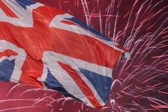大英国旗子 免版税库存图片