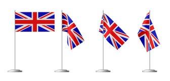 大英国的小桌旗子 库存图片
