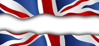 大英国的被抓的旗子 向量例证