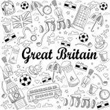 大英国线艺术设计传染媒介例证 免版税库存图片