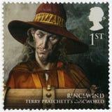 大英国- 2011年:显示Rincewind,系列不可思议的领土画象  免版税库存图片