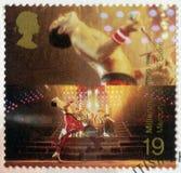 大英国- 1999年:在通过1000年期间,展示弗雷迪・默丘里1946-1991,女王/王后,系列英国成就榜样歌手  库存照片