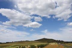 大草原中国的天空路线 免版税库存图片