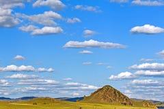 大草原和云彩 库存照片