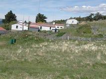 大草原的逗人喜爱的房子 免版税库存图片