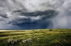 大草原风暴萨斯喀彻温省 库存图片